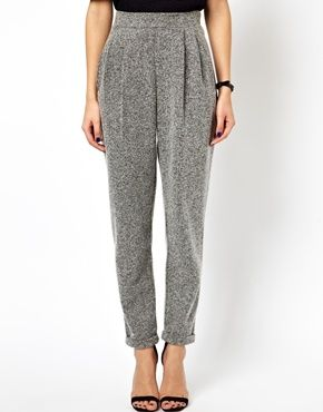 Image 4 of ASOS Textured Peg Pants