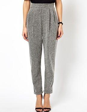 Image 4 ofASOS Textured Peg Trousers