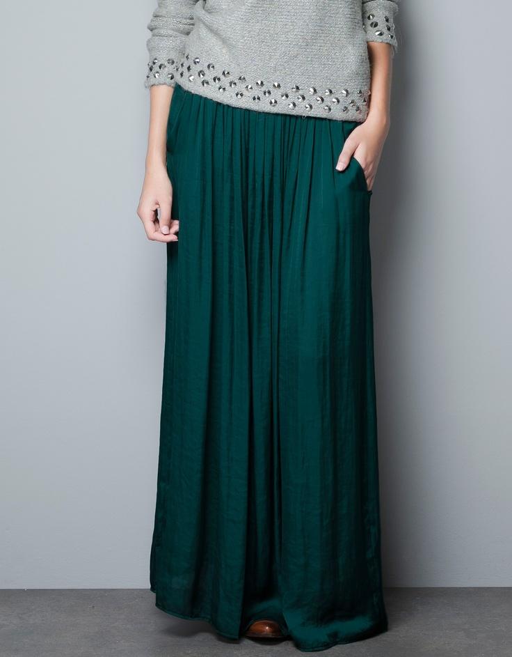 LONG SKIRT WITH POCKETS - Skirts - Woman - ZARA
