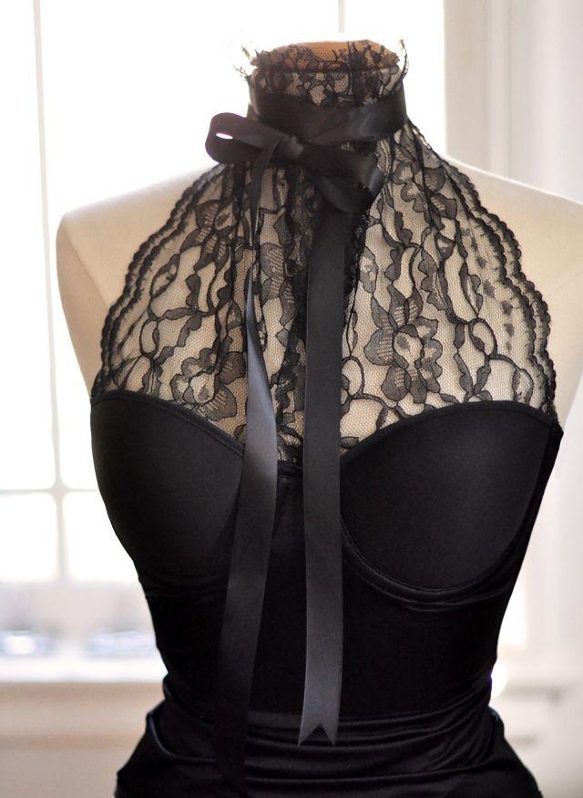 DIY lace halter bustier