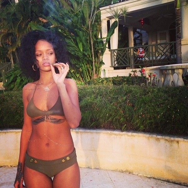 Rihanna Hot New Bikini Pictures, Usher Prepping New Music For 2014 And... ❤ liked on Polyvore featuring rihanna and pic