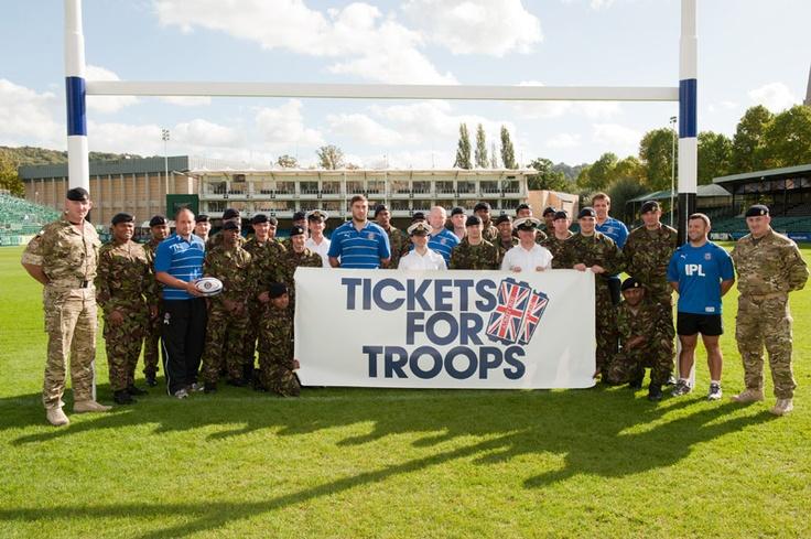 Bath Rugby Club show their support