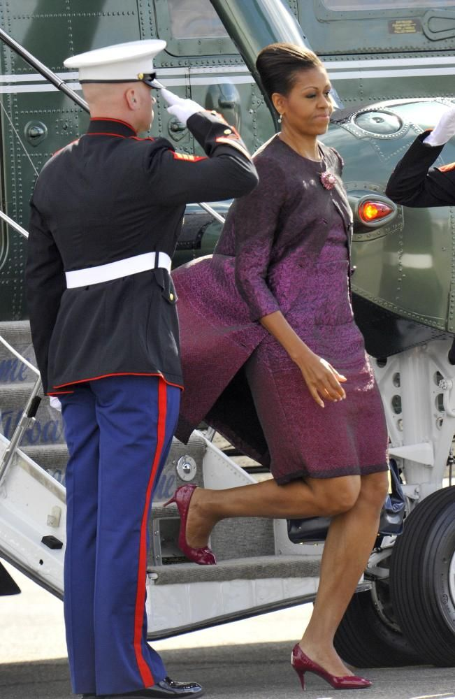 Michelle Obama Continues China Tour In Printastic Outfits