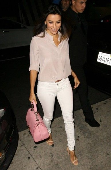 Celebrities spotted out for dinner at Mr. Chow in Beverly Hills, California on May 22, 2014.  Pictured: Eva Longoria