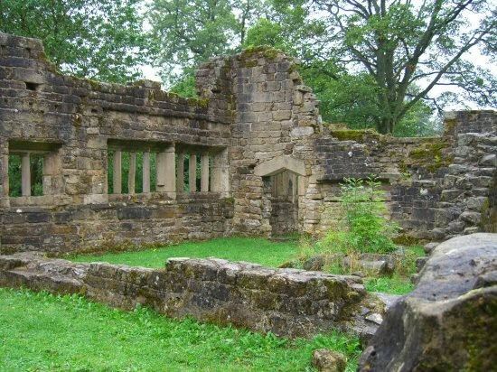 Ruins of Wycoller Hall, thought to be Ferndean Manor in Charlotte Bronte's, Jane Eyre.
