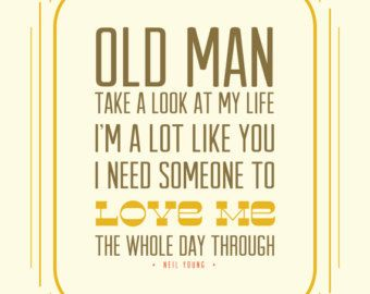 old man..neil young lyrics