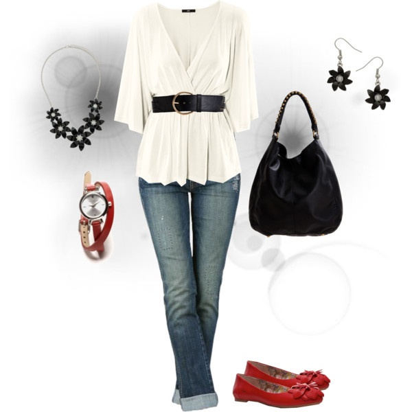 Just a nice everyday outfit.  I'd change the jeans though, I don't do skinny jeans.
