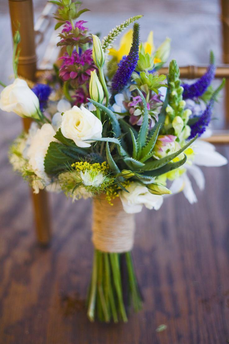wildflower succulent inspired wedding bouquet.