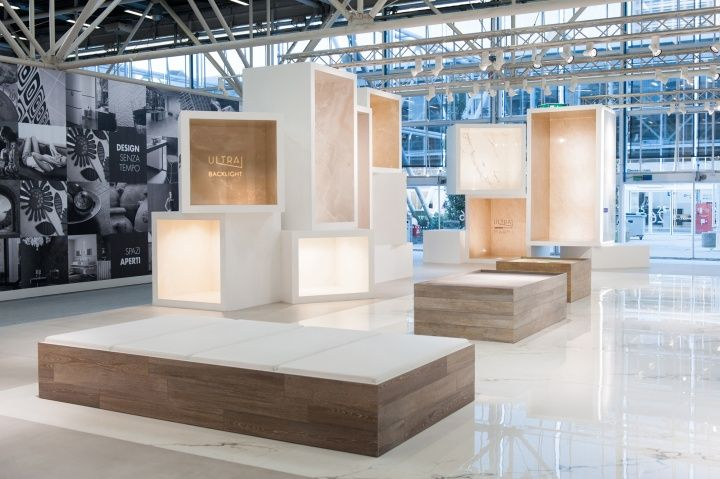 Ariostea surface container at Cersaie 2013 by Marco Porpora Bologna Italy