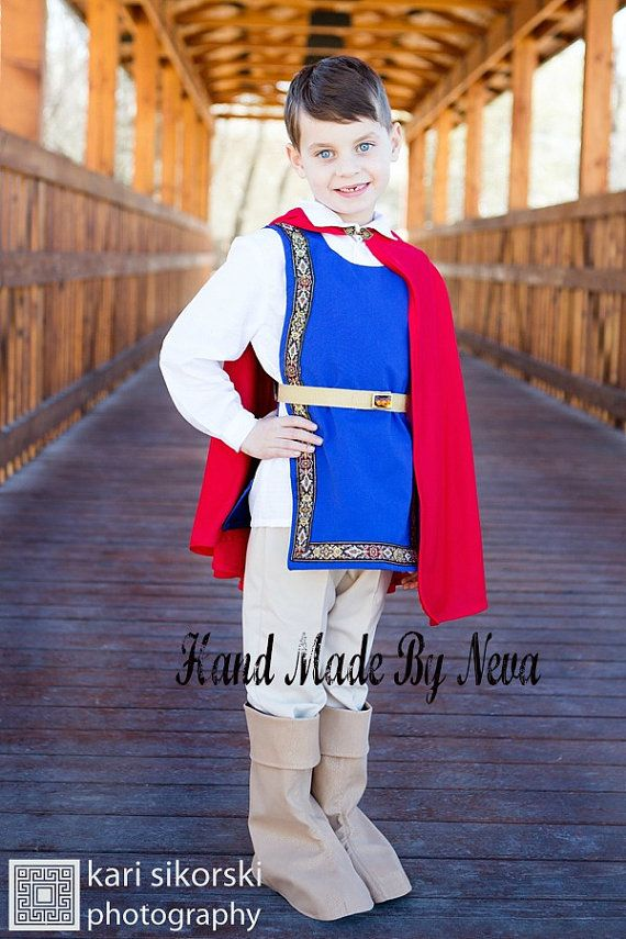 Snow White Prince Costume  Boy Youth Prince by HandMadeByNeva