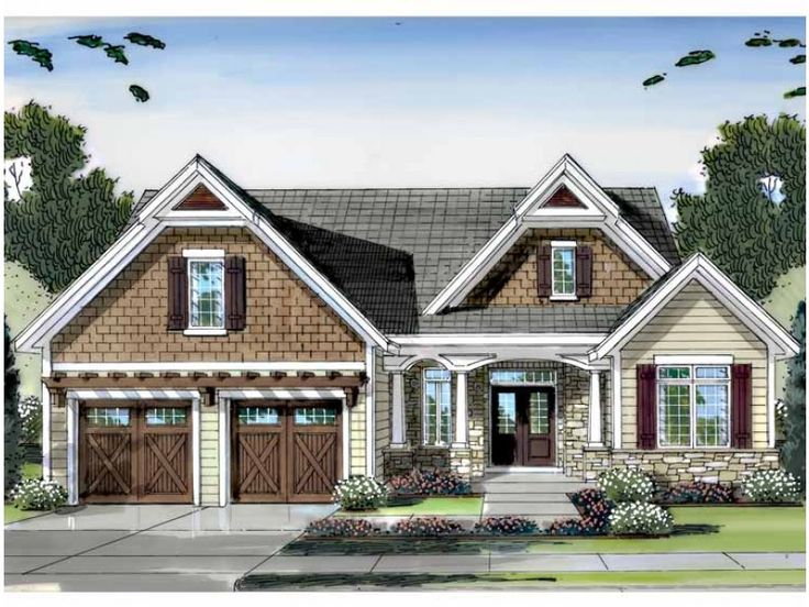 Cottage House Plan with 2316 Square Feet and 4 Bedrooms from Dream Home Source | House Plan Code DHSW62940