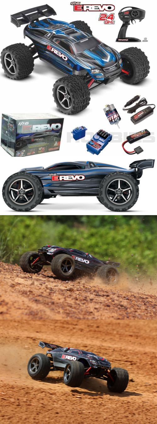 Cars Trucks and Motorcycles 182183: Traxxas 71054-1 E Revo 1 16 4Wd Brushed Truck Blue Rtr W Tq Radio Id Battery -> BUY IT NOW ONLY: $199.95 on eBay!