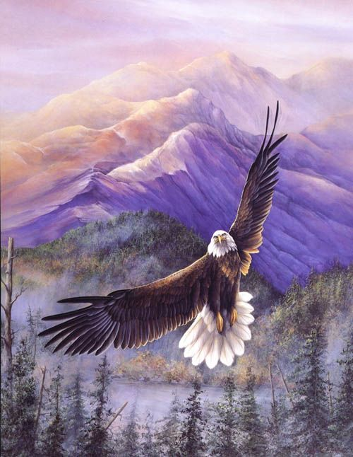 Eagle art by Larry K. Martin
