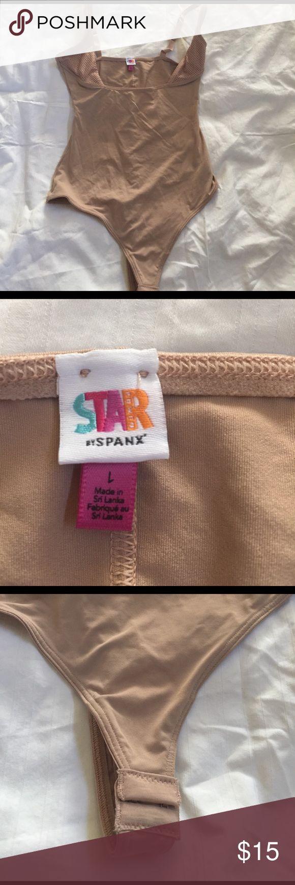 Spanx open bust bodysuit Spanx open bust bodysuit.  Snap crotch thong back.  Adjustable straps.  Never worn. SPANX Intimates & Sleepwear Shapewear