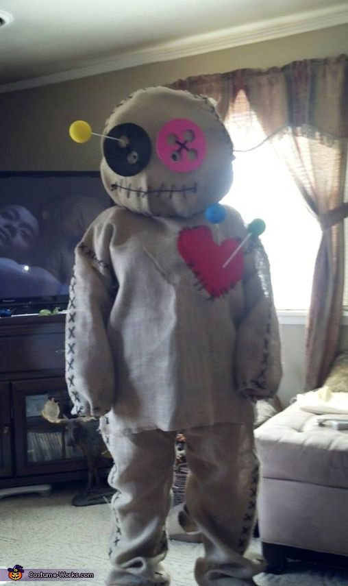 Jo: I am wearing a voodoo doll costume which I created. I was in New Orleans not long ago and had been pondering the idea of a voodoo dol tattoo so...