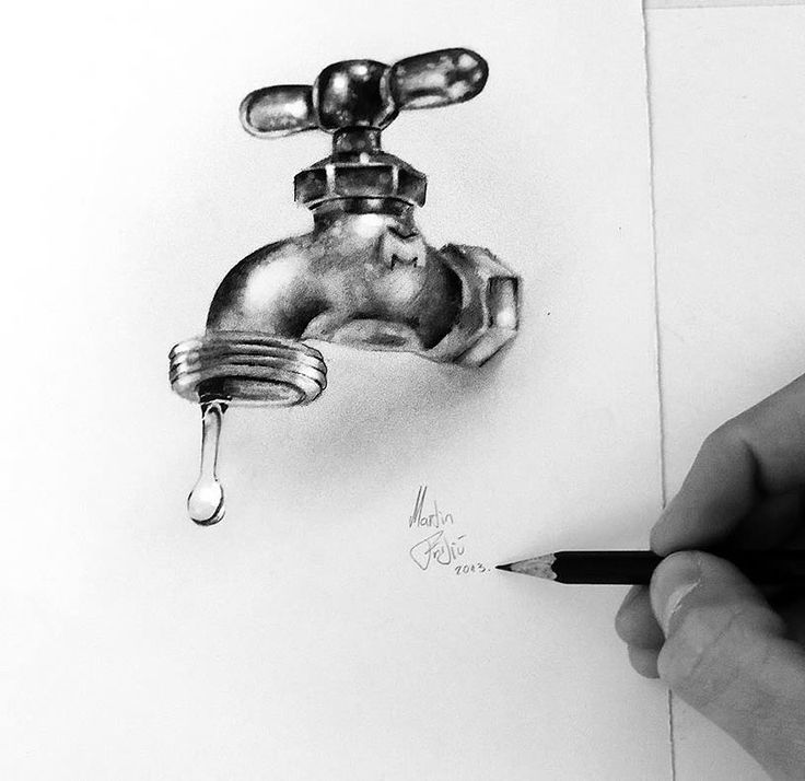 Realistic and three-dimensional drawings of Martin Frljic.