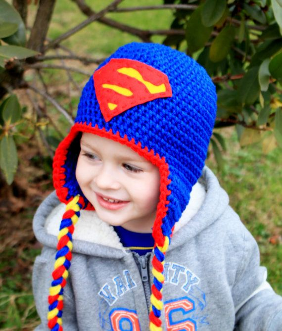 Crochet SuperHero hats BatmanSpiderManCaptain by KrazyHats1, $30.00