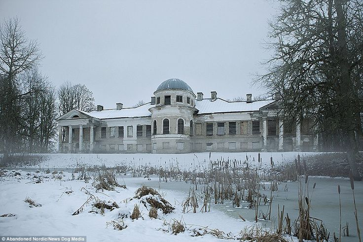A derelict manor house in Estonia. 'The country is quite small,' said Kimmo. 'The drive fr...
