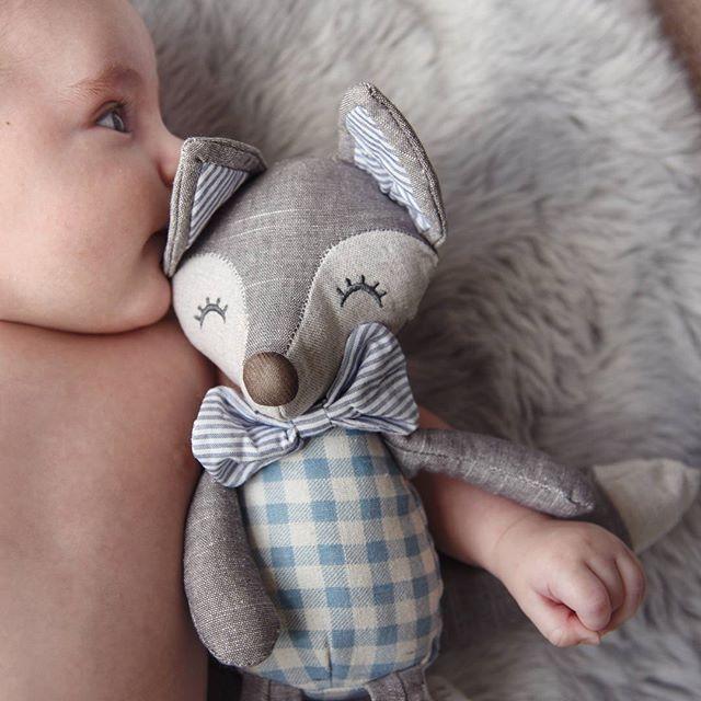 Apparently he enjoys the taste of Mr. Fox's ears. #babylifestyle #babyboy