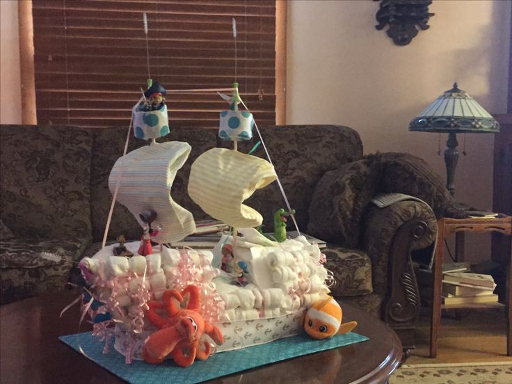 Peter Pan Diaper Cake Baby Shower Boy Baby Shower