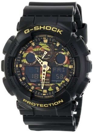 nice G-SHOCK Men's GA100 Camouflage Dial Watch - For Sale Check more at http://shipperscentral.com/wp/product/g-shock-mens-ga100-camouflage-dial-watch-for-sale/