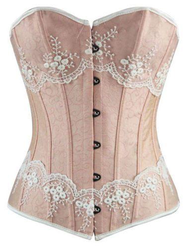 Corset-rose-a-motif-floral-avec-dentelles-blanches