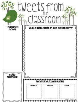 Clroom Newsletter Templates School Stuff Template
