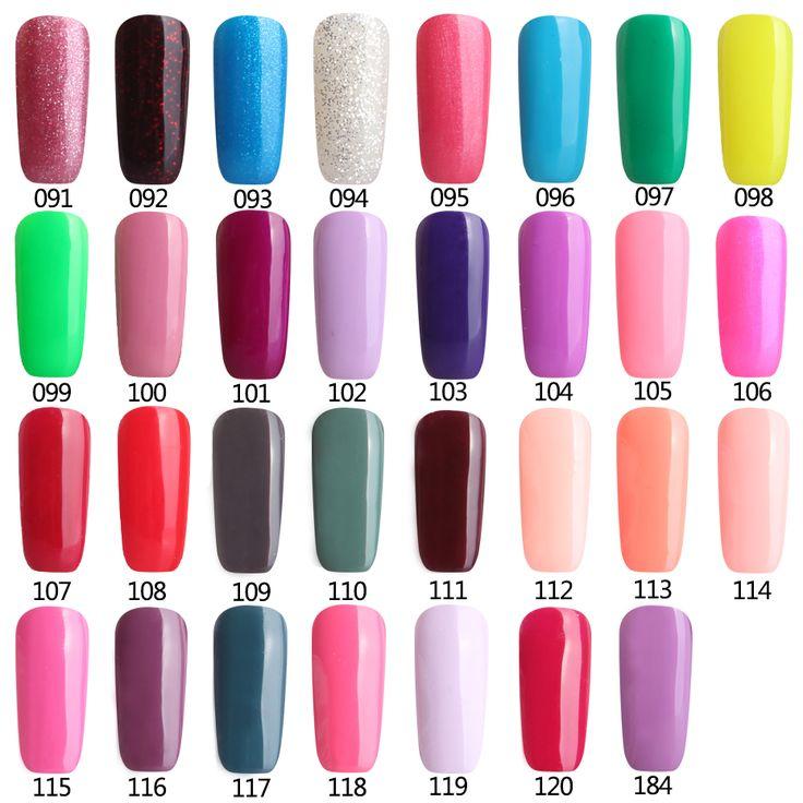 Colors91-120マニキュアブリンブリン光沢のある表面uvジェルネイルポリッシュ爪アートサロンledソークオフ長続きジェルネイルアートuvポリッシュ