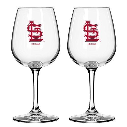 Best Wine Rack | MLB St Louis Cardinals Game Day Wine Glass 12ounce 2Pack -- More info could be found at the image url. Note:It is Affiliate Link to Amazon.