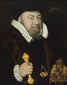 Sir Nicholas Bacon (1510 1579). Brother in law to William Cecil. From 1558, Lord Keeper of the Great Seal under Elizabeth I. An implacable enemy of Mary Queen of Scots, objected to the proposal to marry her to Thomas Howard, 4th Duke of Norfolk as this would have cemented her alliance with the Catholic faction in England. A staunch Protestant who, under Henry VIII, had made a fortune with the Dissolution of the Monasteries and had lost preferment under Mary I of England.