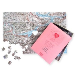 Personalized 'We First Met' Map Jigsaw Puzzle