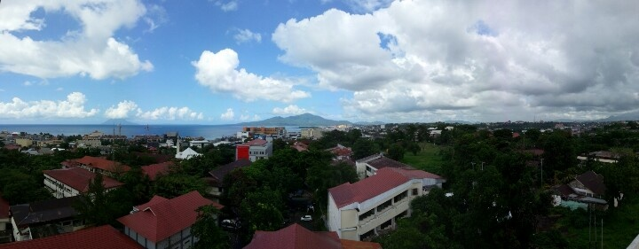 View from Gedung Pasca Sarjana Unsrat lt. 6..