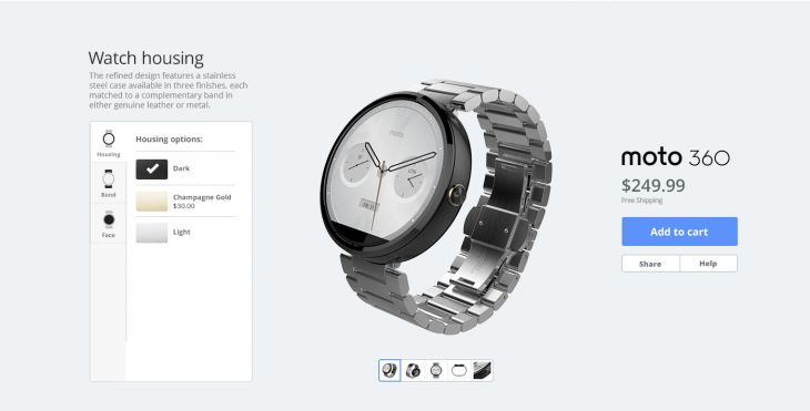 Motorola begins offering their Moto Maker service for the Moto 360 – still US only.  As rumoured, Motorola has today launched their Moto Maker service for their Android Wear watch – the Moto 360. The announcement was made in the wee hours of this morning on the Motorola blog, which described a range of options available through the service. [READ MORE HERE]