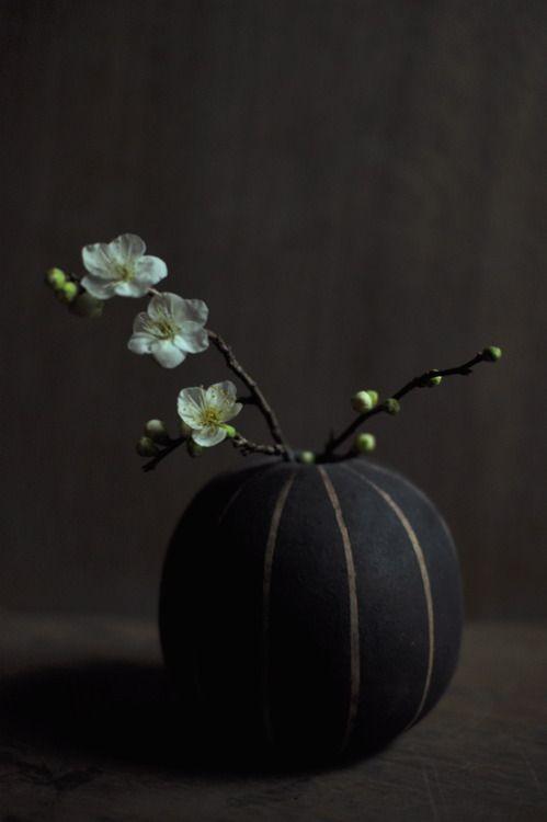 Plum flower ( vase by yoko koyama )