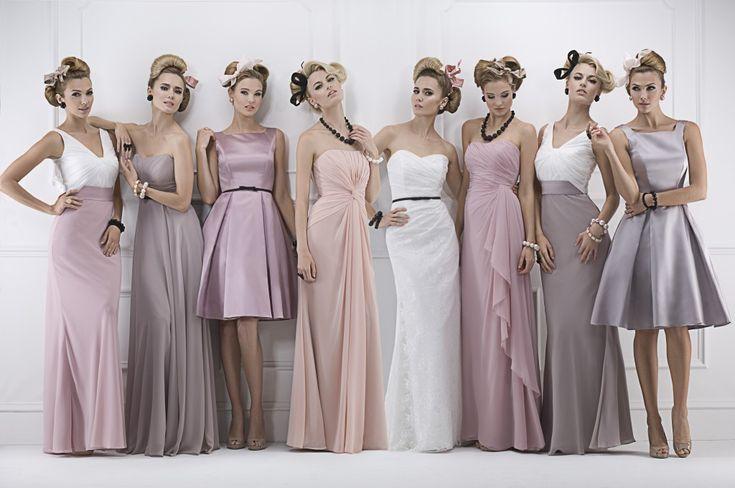 Wunderschöne Brautjungfernkleider in tollen Nudetönen. Ein wundervoller Anblick #Inspiration #Hochzeit #Nude