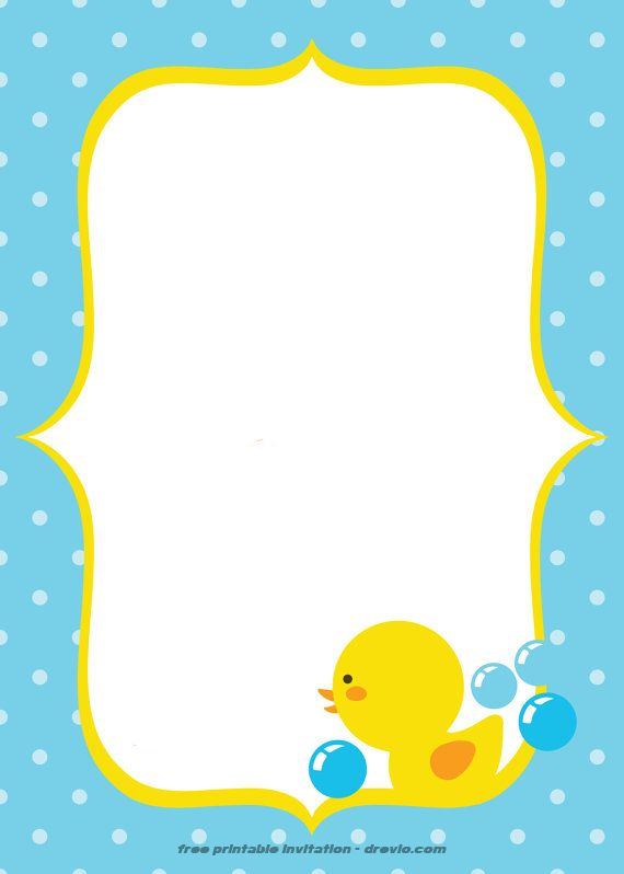 FREE Printable Rubber Duck Invitation Free Printable Birthday