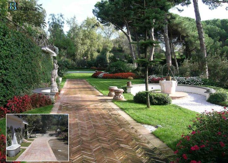 giardino con pozzo a