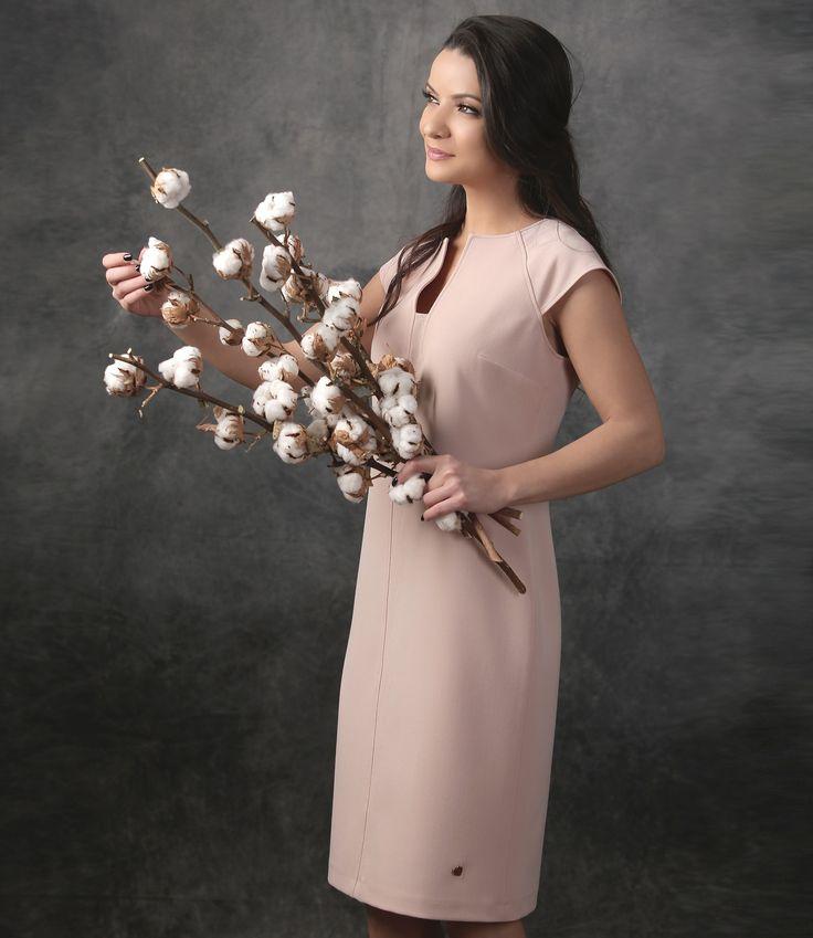 Simple & elegant Spring17 | YOKKO #dress #springcollection #new #pink #casual #day #style #madeinromania