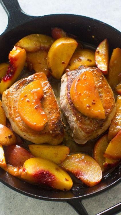 Pfirsich-Schweinekoteletts