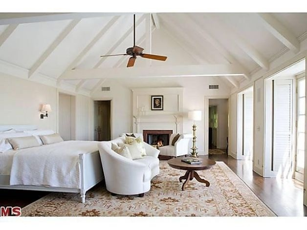 Ceiling Fans For Vaulted Ceilings: Limelight Listing: Harrison Ford & Calista Flockhart sell their LA home,Lighting