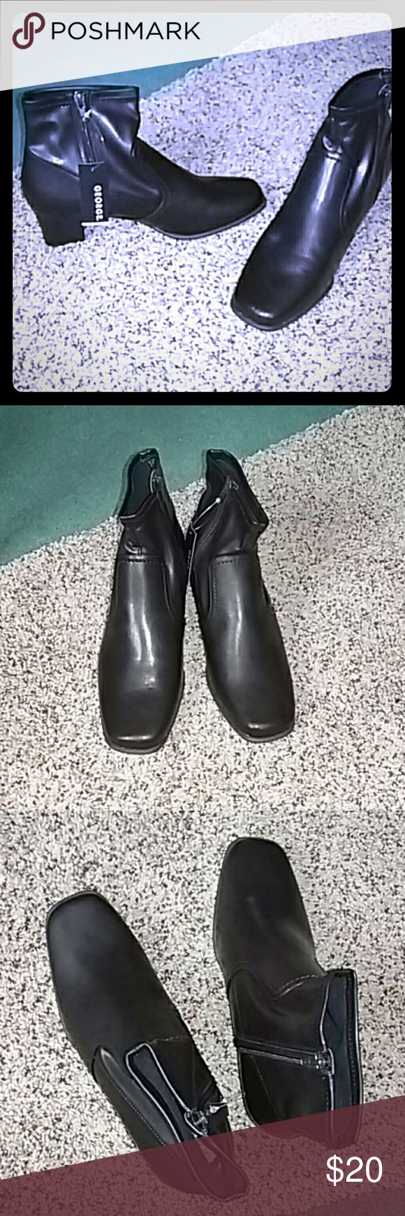 Beatle Boots Dark Brown Brand New In Box Very dark brown George Frances ankle boot brand new in box, never worn, still with tag attached. All manmade materials. Size 8 George Shoes Ankle Boots & Booties