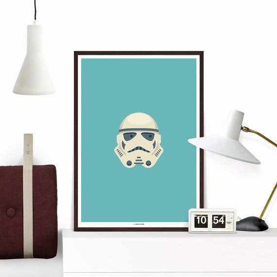 clone star wars stormtrooper inspired art poster print affiche deco star wars stormtrooper. Black Bedroom Furniture Sets. Home Design Ideas