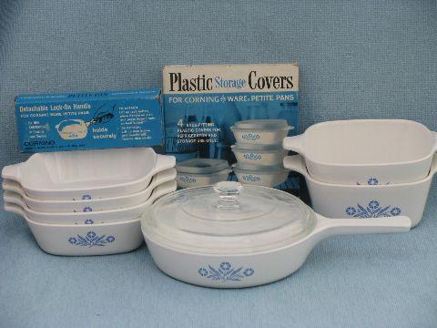 corningware | Corningware blue cornflower Corning glass saucepan, individual ...