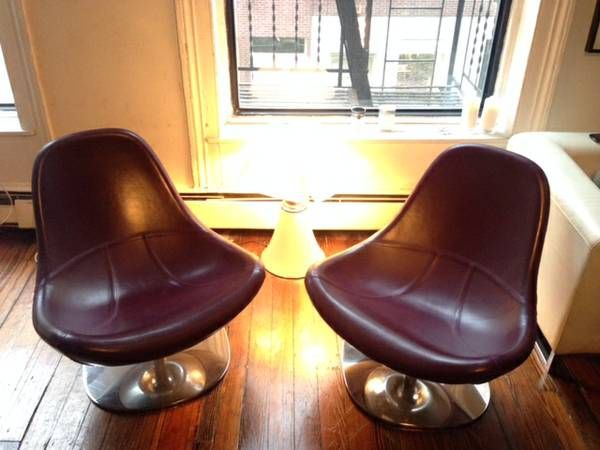 2 scandinavian designer lounge chairs - $200 (TriBeCa)
