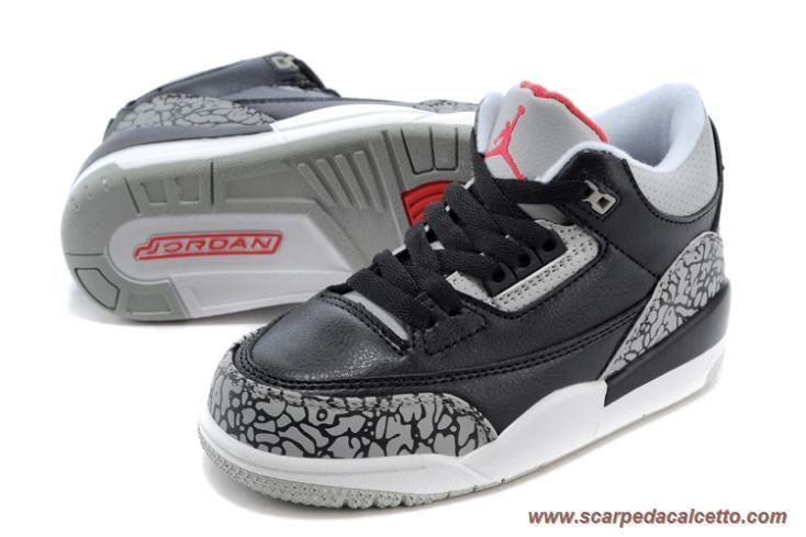 scarpe da ginnastica Nero Cement 008614-105 AIR JORDAN 3 RETRO Nero/cement Grigio