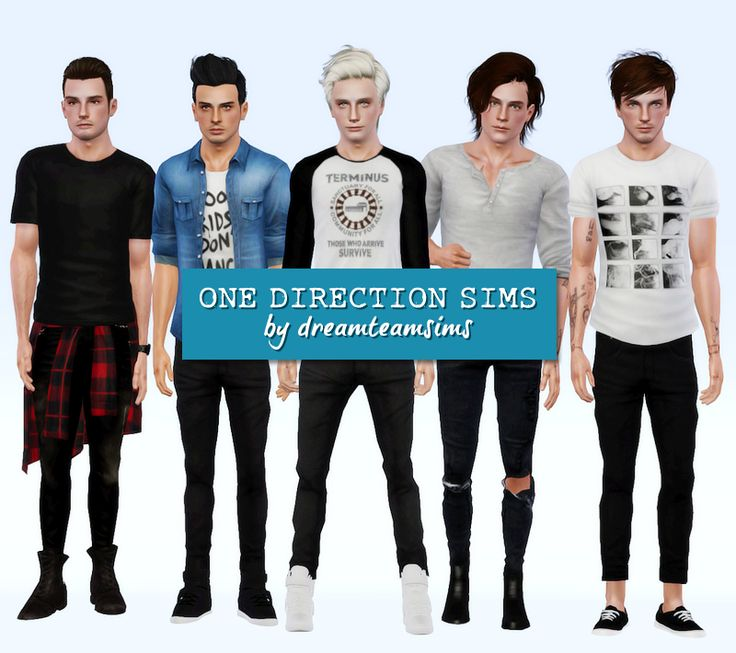 One Direction Sims More Pictures Harry Styles Louis Tomlinson Zayn Malik Niall Horan