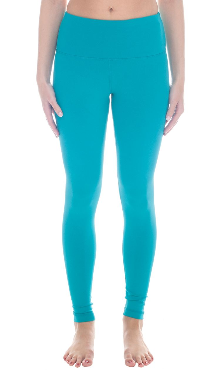 High Waist Tummy Control Power Flex Leggings - Jade