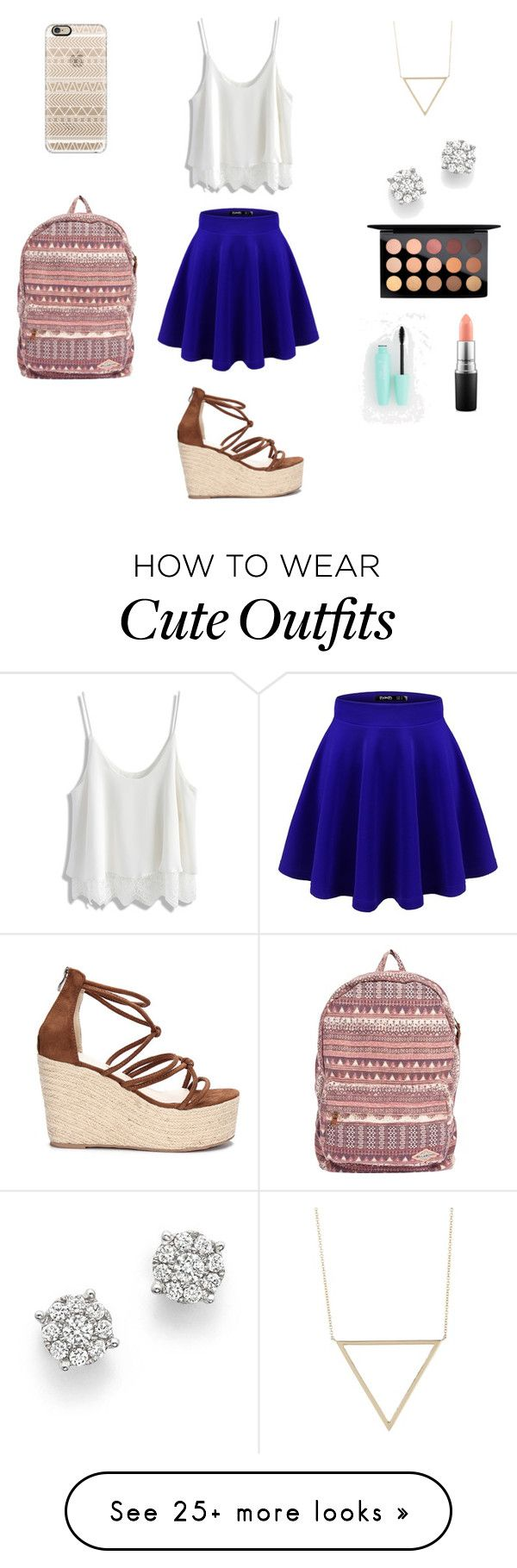 """Cute outfit"" by stuff4m on Polyvore featuring Casetify, Billabong, Bloomingdale's, MAC Cosmetics, Bony Levy and Chicwish"