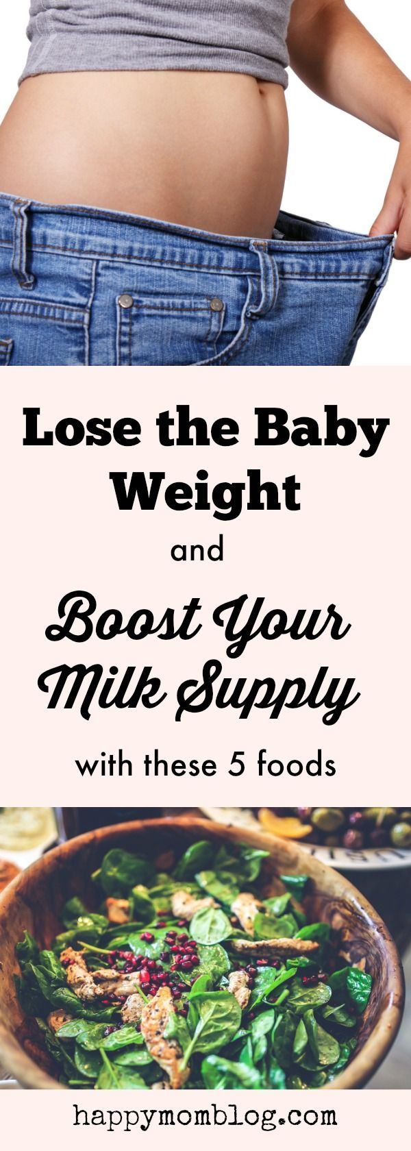 Check out these 5 foods that will boost your milk supply and help you lose the baby weight too!