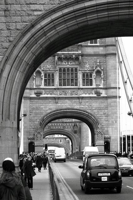 Traffic, Tower Bridge, London